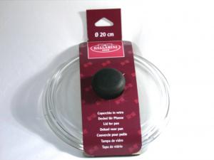 BALLARINI Coperchio vetro bombato manico nero Pentole e preparazione cucina