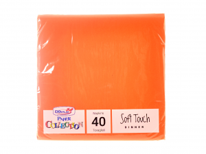 DOPLA Confezione 40 Tovaglioli Soft 2 Veli 38X38 Aranc