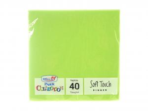 DOPLA Confezione 40 Tovaglioli Soft 2 Veli 38X38 Vrd/M