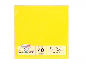 DOPLA Confezione 40 Tovaglioli Soft 2 Veli 38X38 Limon