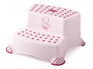 LULABI Sgabello Baby 2 Gradini Little Duck Rosa Arredo Tavola