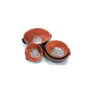 DE SILVA Casseruola 2 manici ceramica marrone cm27x10 Pentole Cucina