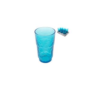 ARC Set 6 Bicchieri Vetro Funnyflowers Blu 27 Arredo Tavola