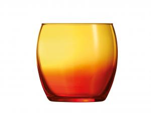 ARC Set 12 Bicchieri Vetro Duos Salto 34 Arancio Arredo Tavola
