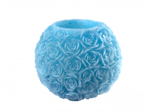 H&H Lanterna Cera Rose Turchese Cm20 Luci E Decorazioni Casa