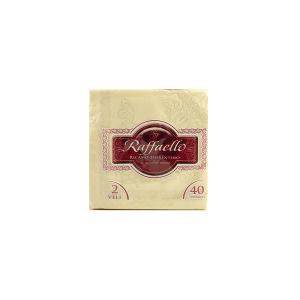 Pack de 40 serviettes 38x38 cm Crème Linge de table