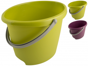ESSEPLAST Bucket Oval Trendy 13 lt Assorted Tool For Le Cleaning