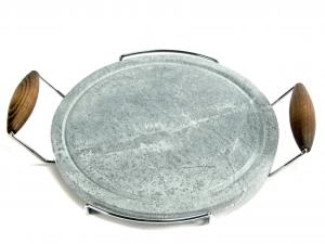 BISETTI Pietra ollare tonda cm30 Pentole e preparazione cucina