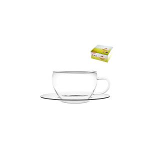 BOHEMIA Confezione 4 Tazze tè Con Piattino Brs CL25 Arredo tavola