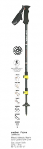 GABEL Bastoncini nordic walking regolabili CARBON FORCE FAST LOCK nero giallo xxx