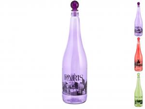 HOME Bottiglia Vetro City Assortito Lt1 Con Tappo