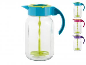 HOME Pots en verre avec support de robinet couleur 2Lt