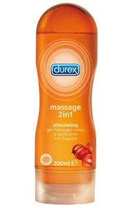 DUREX Massage 2 in 1 GUARANA' 200 ml Gel stimolante gel intimo e per massaggi Lubrificante intimo