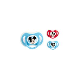 LULABI Set 6 Sucettes En Silicone Orthodontique Disney Enfant Mickey 3M De