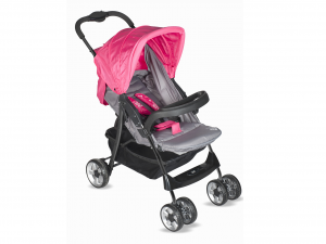 LULABI Stroller Lolli Gray / Fuchsia With Tray Bedroom Accessories Baby