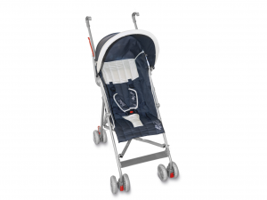LULABI Set 2 Strollers Abraham Blue and ivory World Baby