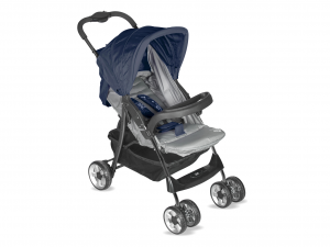 LULABI Stroller Lolli Gray / Blue With Tray Furniture Bedroom Accessories Baby