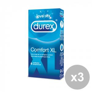DUREX COMFORt Set 3 x 6 Profilattici Condom Preservativi extra large di grandi dimensioni ottima vestibilità