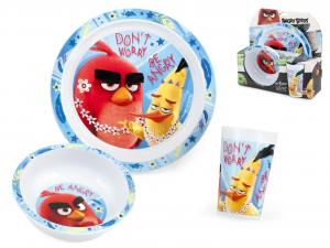 LULABI Confezione 3 Pezzi Bimbo Pp Angry Birds Arredo Tavola