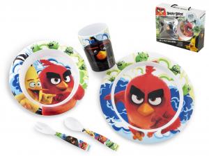 LULABI Confezione 5 Pezzi Bimbo Melamina Angry Birds Arredo Tavola