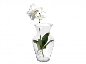 H&H Vaso Vetro Trasparente Uniflor H40 Arredo E Decorazioni Casa