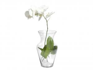 H&H Vaso Vetro Trasparente Uniflor H35 Arredo E Decorazioni Casa