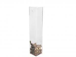 H&H Vaso Vetro Trasparente Quadro Cm15Xh60 Arredo E Decorazioni Casa