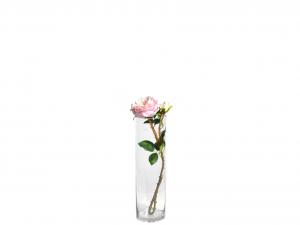H&H Vaso Vetro Trasparente Cilindrico Cm11Xh40 Arredo E Decorazioni Casa