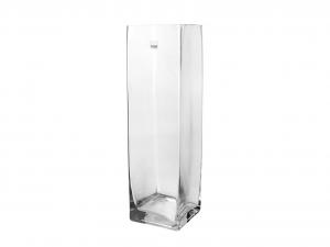H&H Vaso Vetro Trasparente Quadro Cm10Xh30 Arredo E Decorazioni Casa