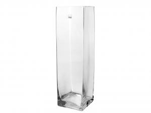 H&H Vaso Vetro Trasparente Quadro Cm10Xh35 Arredo E Decorazioni Casa