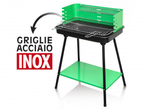 HOME Barbecue A Carbone 58X42H80.4 Con Piano Accessori Per Il Tempo Libero