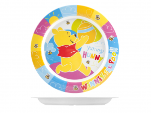LULABI Piatto Melamina Disney Winnie Piano Centimetri 22 Arredo Tavola