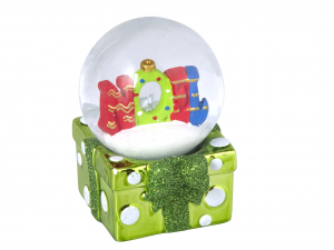 HOME Set 6 Sphere Christmas With Snow Assorted 6.5 Decoration House