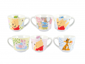 HOME Set 6 Cups Coffee Disney Winnie Sweet Without Dishes 80