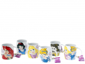 HOME Set 6 Cup Stoneware Disney Princess Wanted Preparation