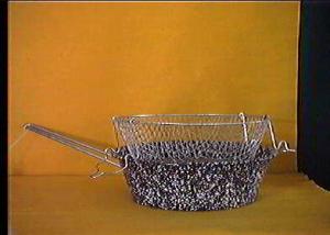 CERIANI Friggitrice ferro/porcellana con cestello 24sct