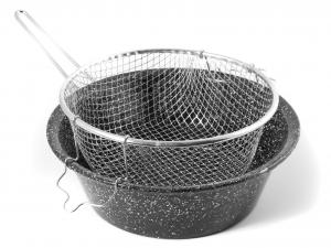 CERIANI Friggitrice ferro/porcellana con cestello 32sct