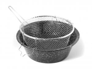 CERIANI Friggitrice ferro/porcellana con cestello 30sct