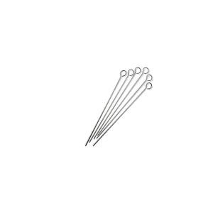 CAPER Conjunto de 6 pinchos de acero inoxidable de 20 cm