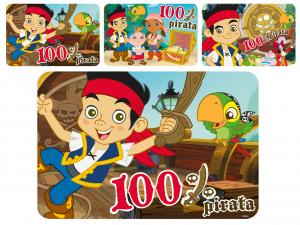 HOME Set 12 Tovagliette Polipropilene Disney Jake Pirata Arredo Tavola Tessili