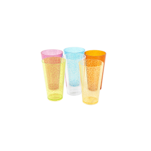 CHIO Set 6 Bicchieri acrilico color assortiti cl60 Arredo tavola