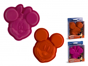 HOME Set 6 Molds Silicone Disney Mickey / Minnie 12 Pastry