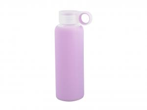 H&H Set 3 Bottiglia Borosilicato/Silicone Lilla Tappo Plastica 0,36 Cl