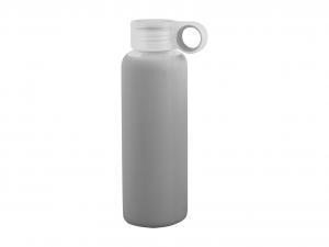 H&H Set 3 Bottiglia Borosilicato/Silicone Grigia Tappo Plastica 0,36 Cl