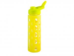 H&H Set 3 Bottiglia Borosilicato/Silicone Gialla Tappa Plastica 0,55 Cl