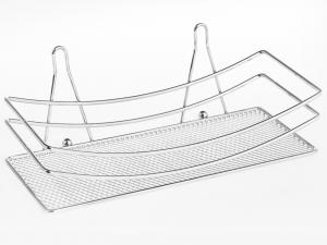 HOME Mensola rettangolare f/crom con ventosa Arredo