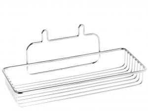 HOME Mensola rettangolare f/crom con ventosa 26x13x7,5 Arredo