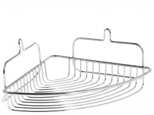 HOME Mensola angolare f/crom con ventosa Arredo