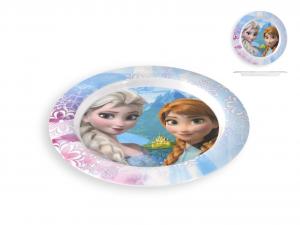 HOME Piatto Melamina Disney Frozen Piano Cm22 Arredo Tavola