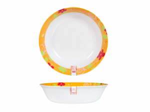 H&H Salad bowl Melamine Orange Cm 25 Article For the Kitchen